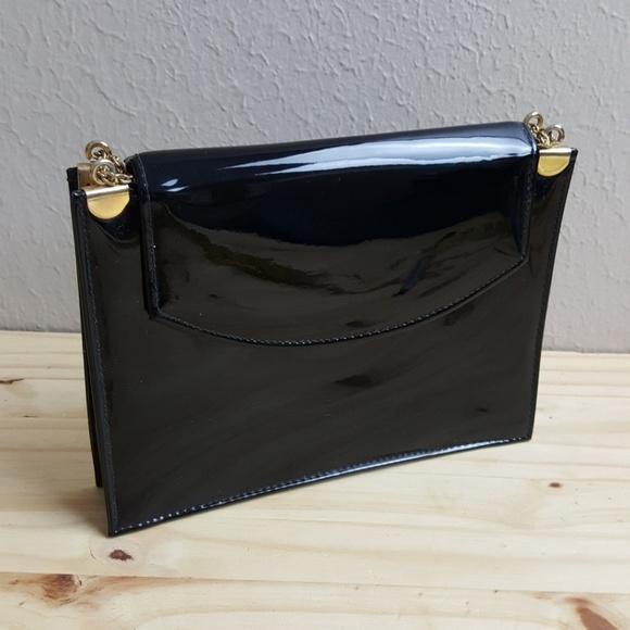 Vintage Bags   Black Patent Envelope Clutch Shoulder Bag   Poshmark 0a78aaa5fd